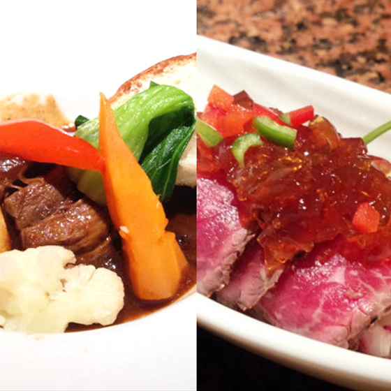 Kobe beef gem - Kobe beef sliced ​​rare steak Julepong vinegar