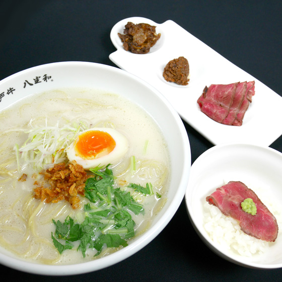 Kobe beef noodles white water (salt)